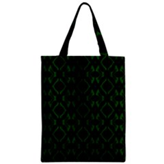 Green Black Pattern Abstract Zipper Classic Tote Bag