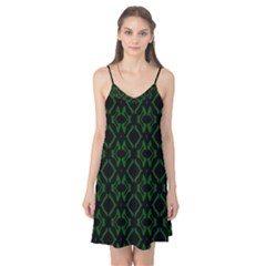 Green Black Pattern Abstract Camis Nightgown