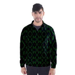 Green Black Pattern Abstract Wind Breaker (Men)