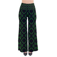 Green Black Pattern Abstract Pants