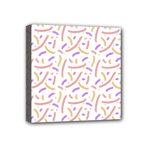 Confetti Background Pink Purple Yellow On White Background Mini Canvas 4  x 4