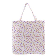 Confetti Background Pink Purple Yellow On White Background Grocery Tote Bag