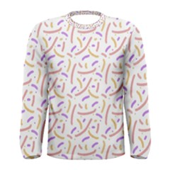 Confetti Background Pink Purple Yellow On White Background Men s Long Sleeve Tee