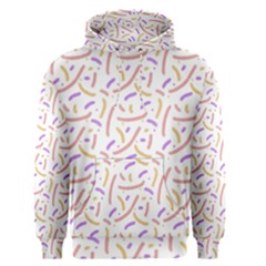 Confetti Background Pink Purple Yellow On White Background Men s Pullover Hoodie