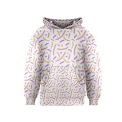 Confetti Background Pink Purple Yellow On White Background Kids  Pullover Hoodie