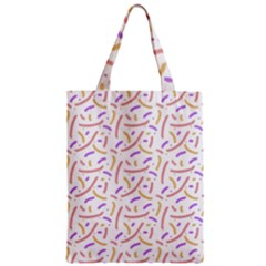 Confetti Background Pink Purple Yellow On White Background Zipper Classic Tote Bag