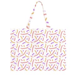 Confetti Background Pink Purple Yellow On White Background Large Tote Bag