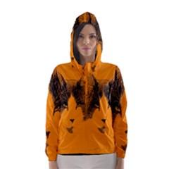 Cat Graphic Art Hooded Wind Breaker (Women)