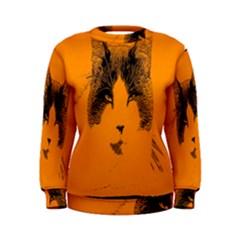 Cat Graphic Art Women s Sweatshirt