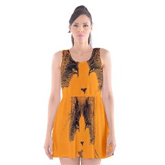 Cat Graphic Art Scoop Neck Skater Dress