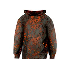 Abstract Lighted Wallpaper Of A Metal Starburst Grid With Orange Back Lighting Kids  Pullover Hoodie