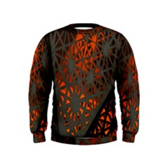 Abstract Lighted Wallpaper Of A Metal Starburst Grid With Orange Back Lighting Kids  Sweatshirt