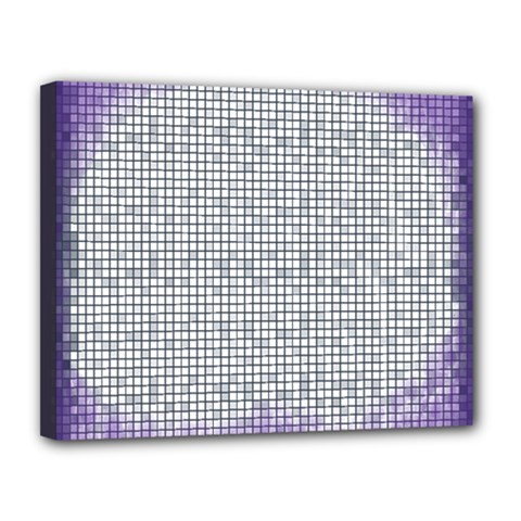 Purple Square Frame With Mosaic Pattern Canvas 14  X 11