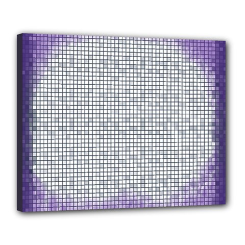 Purple Square Frame With Mosaic Pattern Canvas 20  x 16