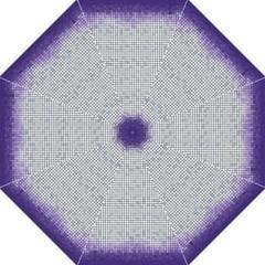 Purple Square Frame With Mosaic Pattern Straight Umbrellas