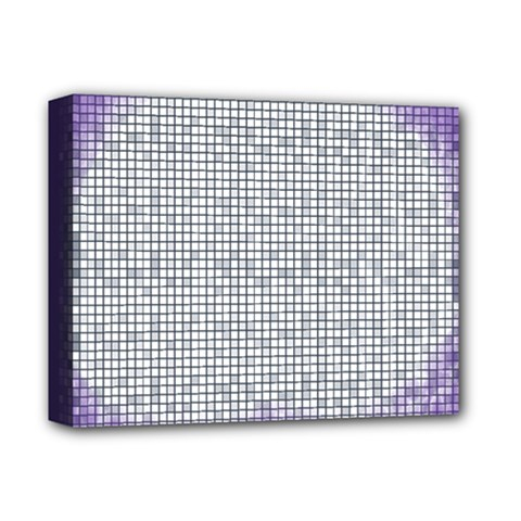 Purple Square Frame With Mosaic Pattern Deluxe Canvas 14  X 11