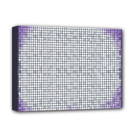 Purple Square Frame With Mosaic Pattern Deluxe Canvas 16  x 12