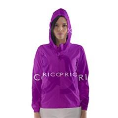 Zodiac Capricorn Purple Hooded Wind Breaker (Women)