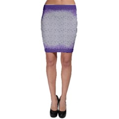 Purple Square Frame With Mosaic Pattern Bodycon Skirt