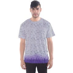 Purple Square Frame With Mosaic Pattern Men s Sport Mesh Tee