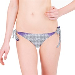 Purple Square Frame With Mosaic Pattern Bikini Bottom