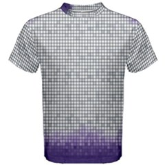 Purple Square Frame With Mosaic Pattern Men s Cotton Tee