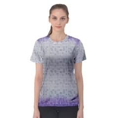 Purple Square Frame With Mosaic Pattern Women s Sport Mesh Tee