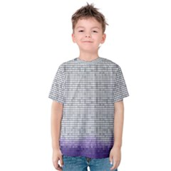 Purple Square Frame With Mosaic Pattern Kids  Cotton Tee