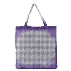 Purple Square Frame With Mosaic Pattern Grocery Tote Bag