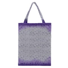 Purple Square Frame With Mosaic Pattern Classic Tote Bag