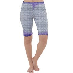 Purple Square Frame With Mosaic Pattern Cropped Leggings