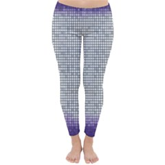 Purple Square Frame With Mosaic Pattern Classic Winter Leggings