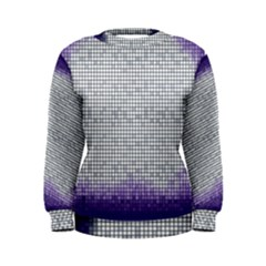Purple Square Frame With Mosaic Pattern Women s Sweatshirt
