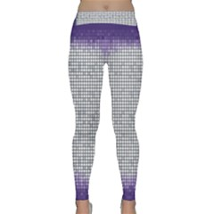 Purple Square Frame With Mosaic Pattern Classic Yoga Leggings