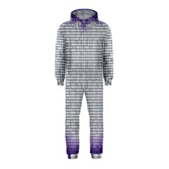 Purple Square Frame With Mosaic Pattern Hooded Jumpsuit (kids)
