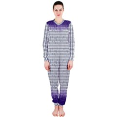 Purple Square Frame With Mosaic Pattern OnePiece Jumpsuit (Ladies)
