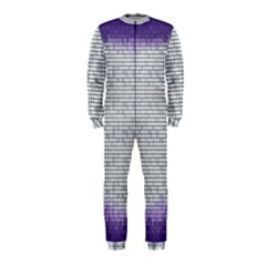 Purple Square Frame With Mosaic Pattern OnePiece Jumpsuit (Kids)