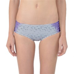 Purple Square Frame With Mosaic Pattern Classic Bikini Bottoms