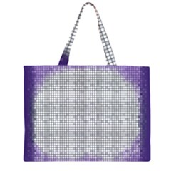 Purple Square Frame With Mosaic Pattern Large Tote Bag