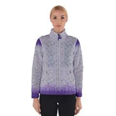 Purple Square Frame With Mosaic Pattern Winterwear