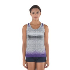 Purple Square Frame With Mosaic Pattern Women s Sport Tank Top