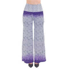 Purple Square Frame With Mosaic Pattern Pants