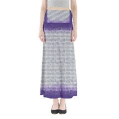 Purple Square Frame With Mosaic Pattern Maxi Skirts