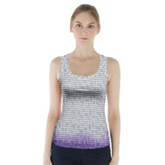 Purple Square Frame With Mosaic Pattern Racer Back Sports Top