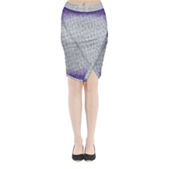 Purple Square Frame With Mosaic Pattern Midi Wrap Pencil Skirt
