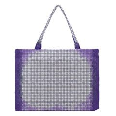 Purple Square Frame With Mosaic Pattern Medium Tote Bag