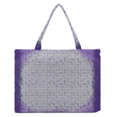 Purple Square Frame With Mosaic Pattern Medium Zipper Tote Bag
