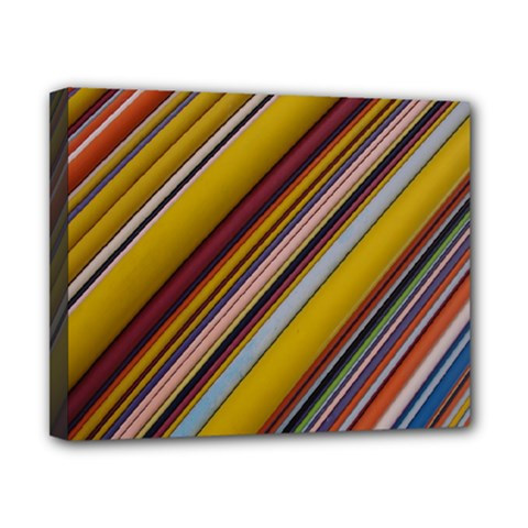 Colourful Lines Canvas 10  x 8