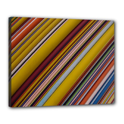 Colourful Lines Canvas 20  x 16
