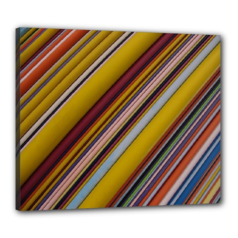 Colourful Lines Canvas 24  x 20